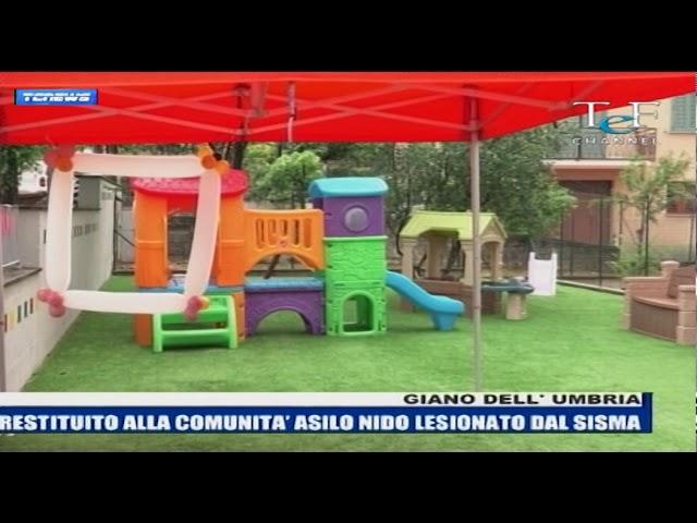 Inaugurazione asilo nido Giano dell'Umbria TEF Channel