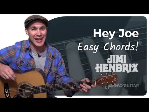 Hey Joe - Jimi Hendrix - Easy Song Beginner Guitar Lesson (BS-301)