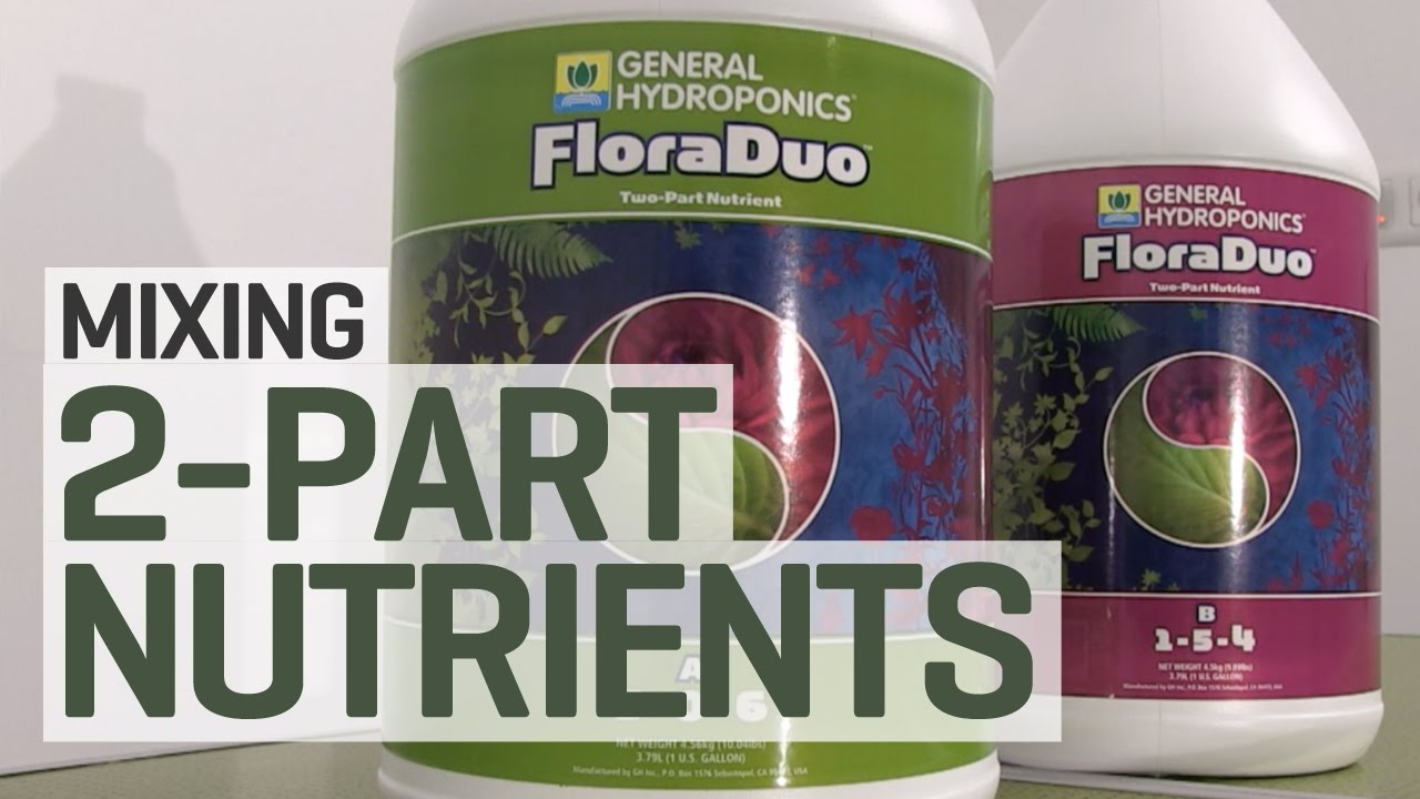How To Mix a 2-Part Hydroponics Nutrient Solution