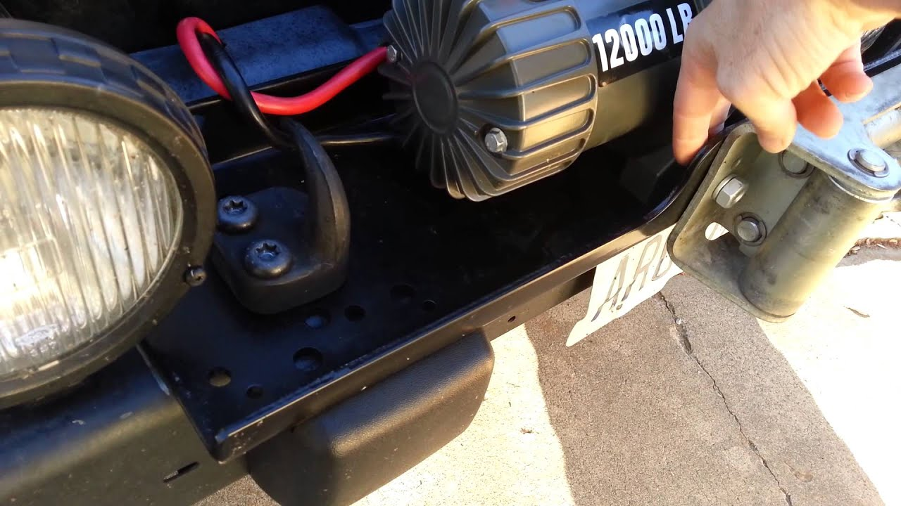 2013 Wrangler Stereo Wiring Diagram Badlands Winch Mounted To 2003 Jeep Wrangler Tj Youtube