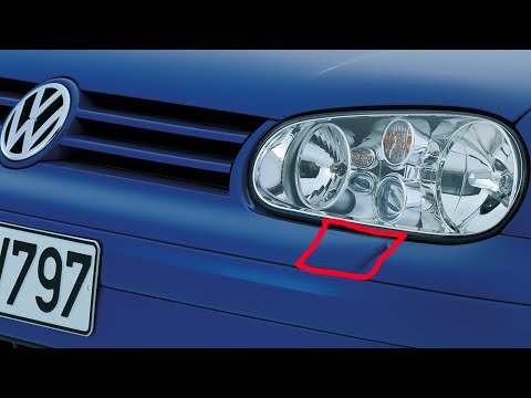 How to remove headlight washer jet cover cap VW Golf Mk4, Bora, Jetta, Passat in 2 steps