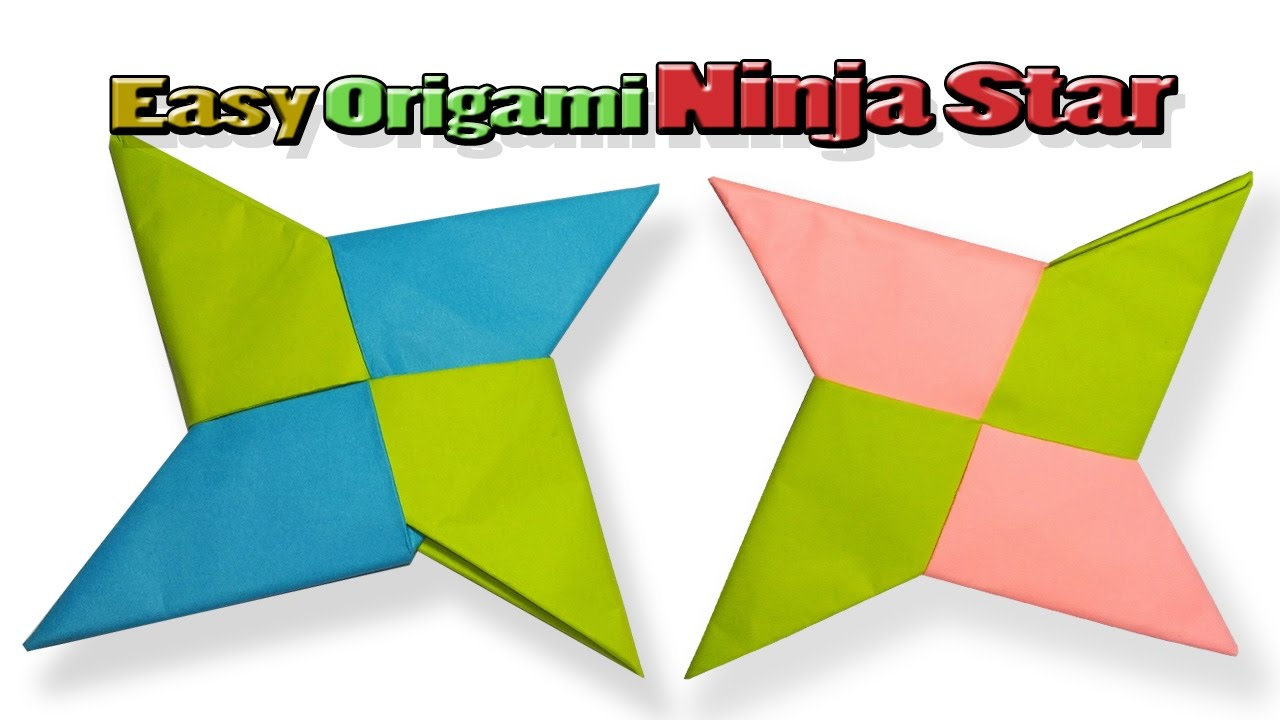 an easy origami ninja starhow to make origami ninja star