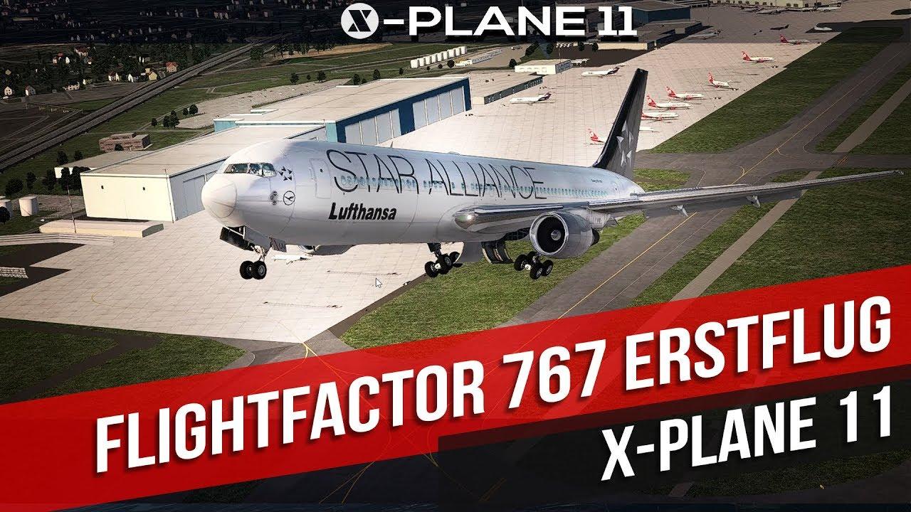 X-Plane 11- Erstflug mit der Flightfactor Boeing 767 - Gameplay deutsch PC  Part 47