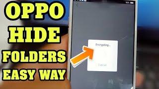 Oppo Hide Folders Easy Way   How To Hide Folders in Oppo Phones