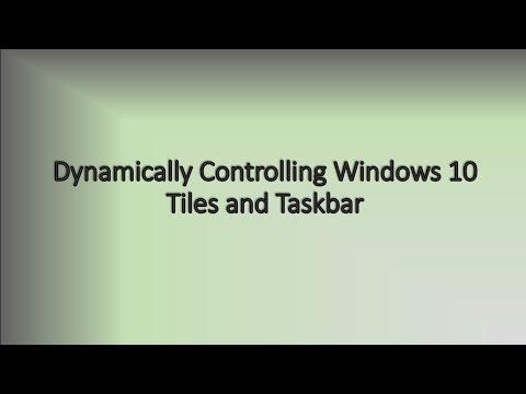 Customizing Windows 10 Start Menu and Taskbar by Script - YouTube