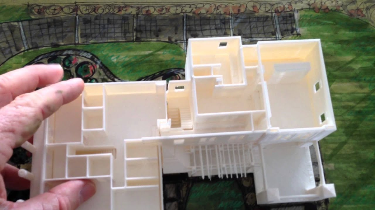 3d printed house youtube for Print architectural plans