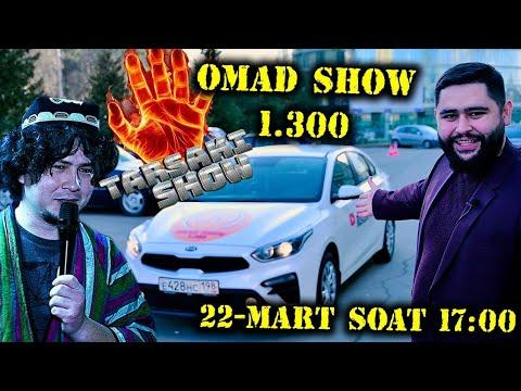 22-MART SOAT 17:00 DA XAMMASI ANIQ BO'LADI (TARSAKI SHOW)