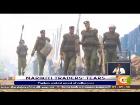 Police, Marikiti traders in running battles