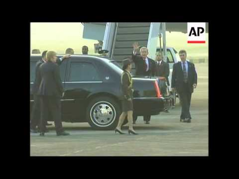 AP pictures of the arrival of US President Bush in Singapore