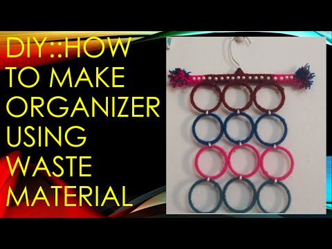 DIY:: How to make Jewelry/Cloth Organizer using waste material !!