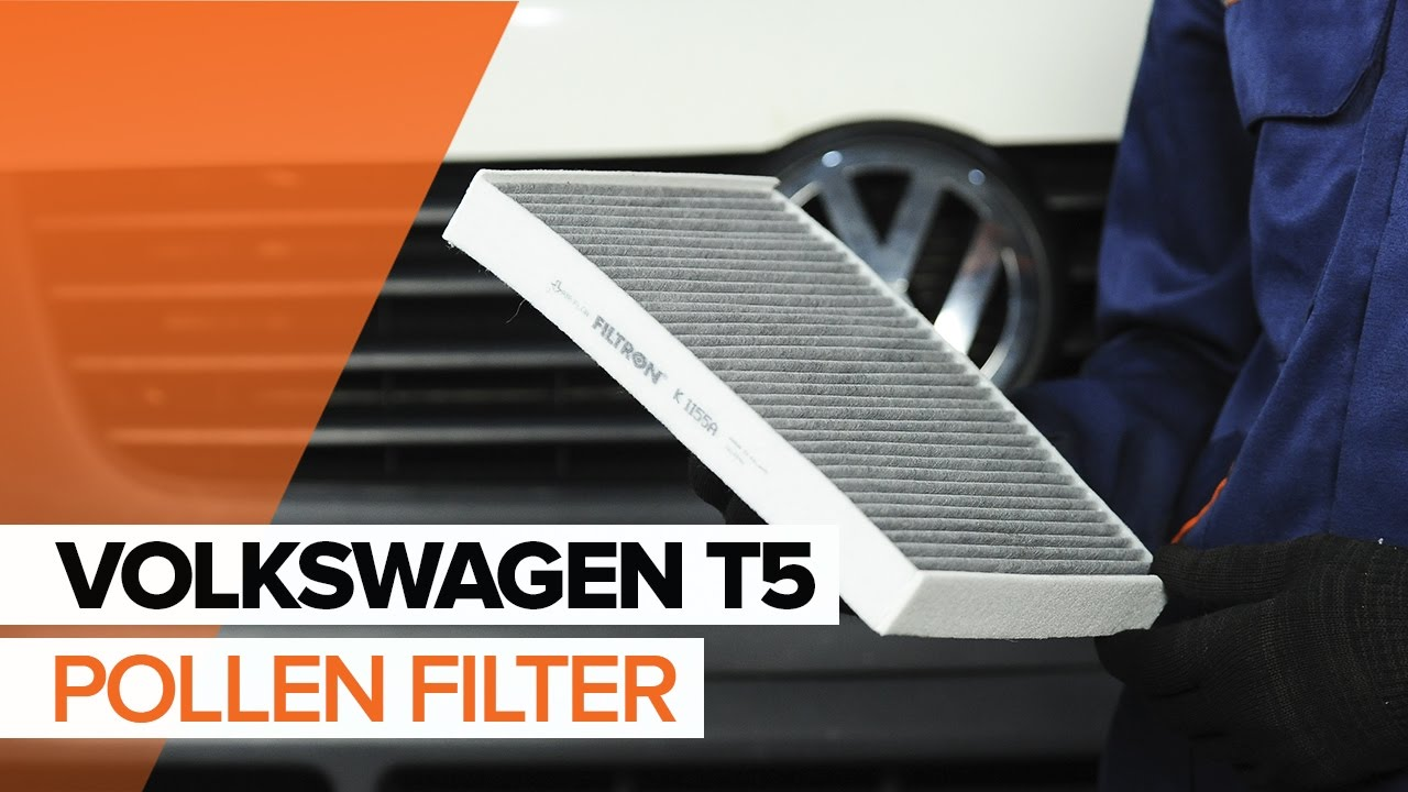 how to replace pollen filter on volkswagen t5 tutorial. Black Bedroom Furniture Sets. Home Design Ideas