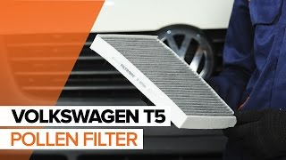 Replacing Air conditioner filter on VW TRANSPORTER: workshop manual
