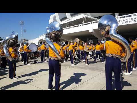 LSU Tiger Marching Band Earthquake TUBAS AND DRUMLINE