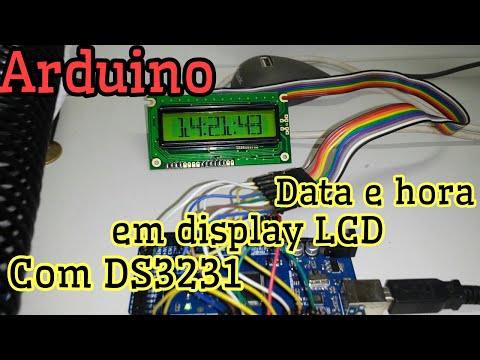 Arduino - Relógio, data e hora com Display LCD, Big Numbers e RTC DS3231