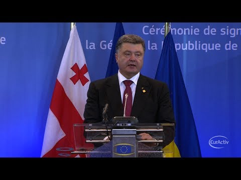 Poroshenko: Ukraine paid a high price to be in, with Europe