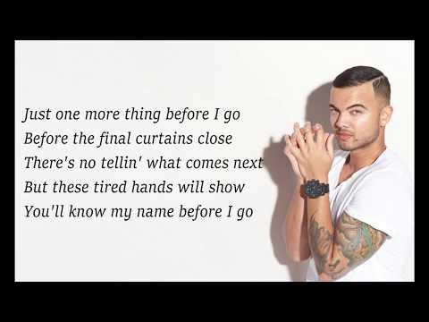 Guy Sebastian - Before I Go (Lyrics)