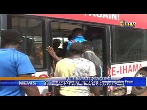 Dr. Ogbeide-Ihama Commended For Providing Free Bus For Passengers