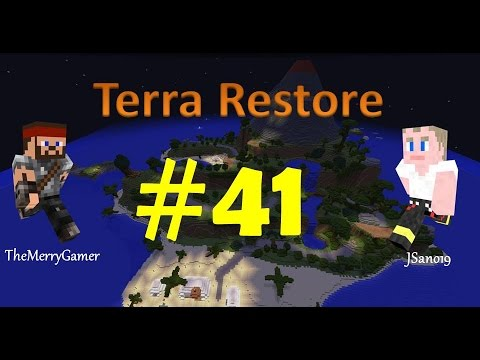 Minecraft - Terra Restore CTM with TheMerryGamer - Episode 41 - 1.4 Update and Warrior Ship thumbnail