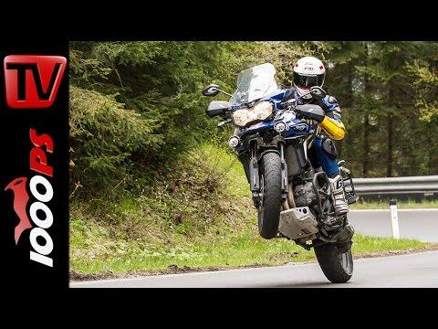 Triumph Tiger Explorer Xca Test 2016 | Motorrad Quartett | Action, Onboard, Details