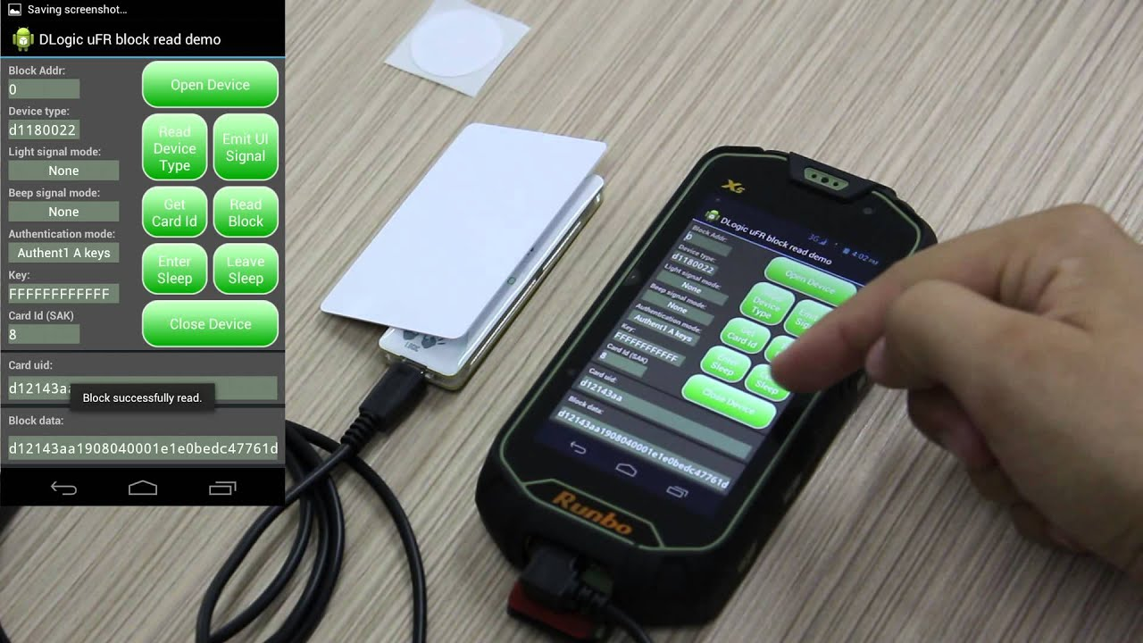NFC RFID Reader working on Android - RFID card reading software with SDK