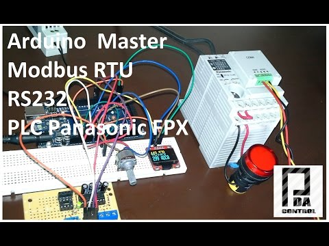 Modbus RTU Master tests with Arduino via RS232 and PLC Panasonic FPX