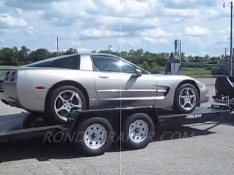 Unloading my Dad's Corvette from a car trailer. The end of ...