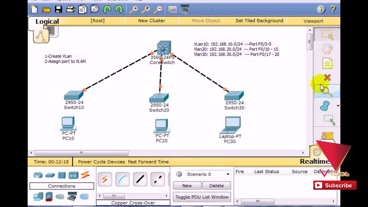 how to make vlan in switch