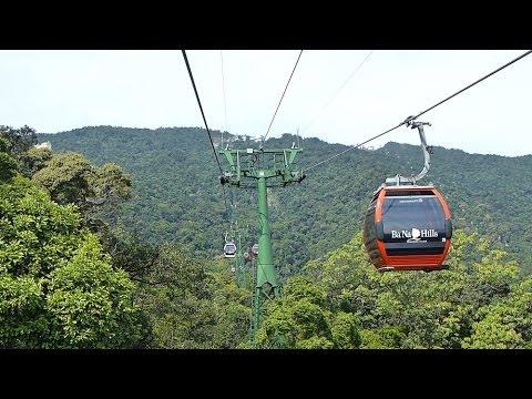 01.05.2013 Complete crossing cable car ride to Ba Na Hills , Seilbahn Bà Nà Hills , german *HD*