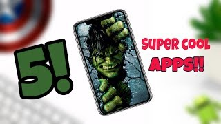 5 Cool Android Apps | Custom Apps | Unique Android Apps | Ghatak Apps  - 2019