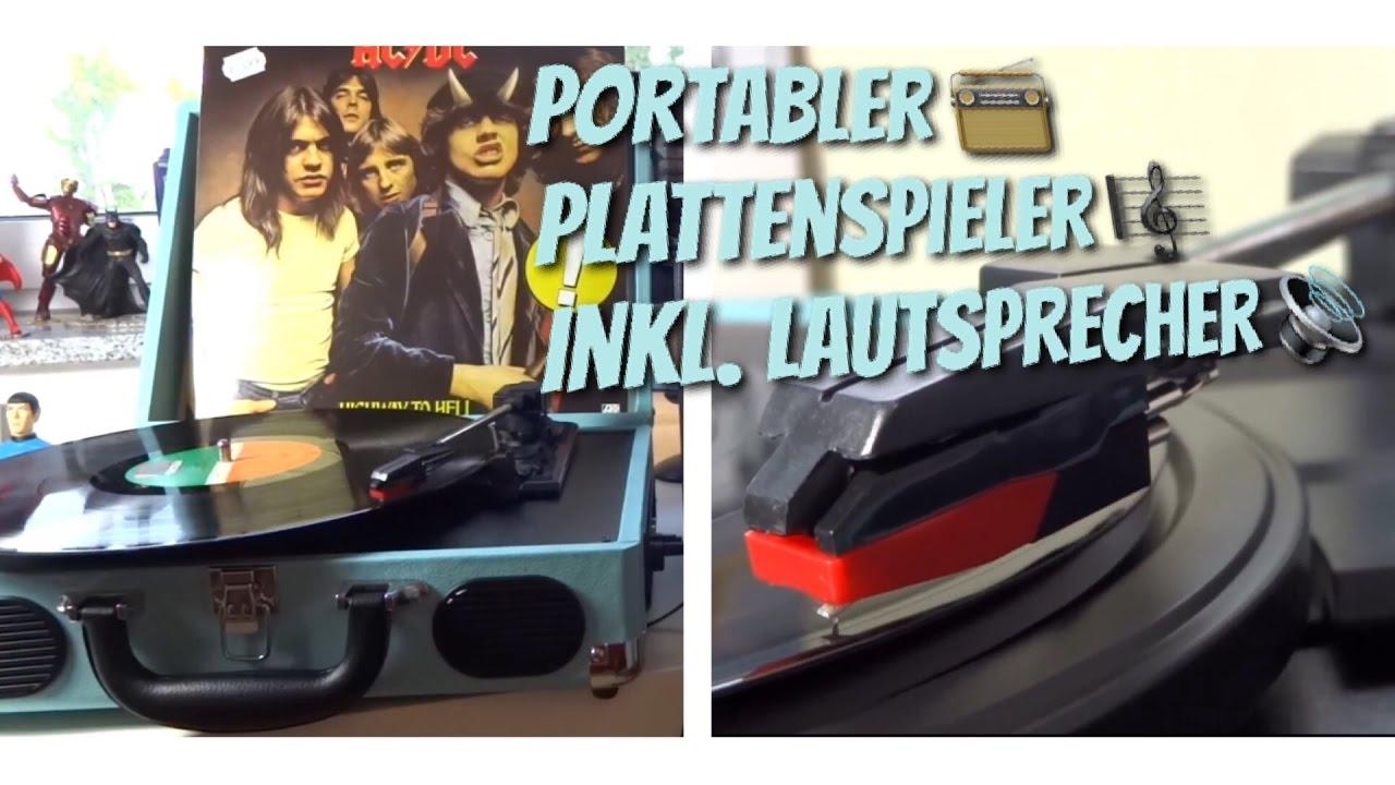 retro sound im koffer tragbarer plattenspieler inkl. Black Bedroom Furniture Sets. Home Design Ideas