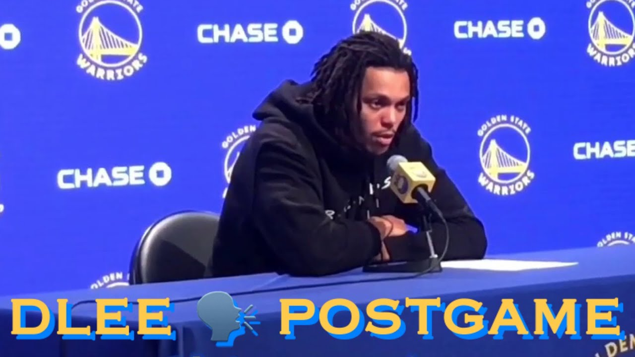 📺 Entire DAMION LEE postgame on his rebounding; Warriors homestand; D'Angelo injury + TRANSCRIPT 👇