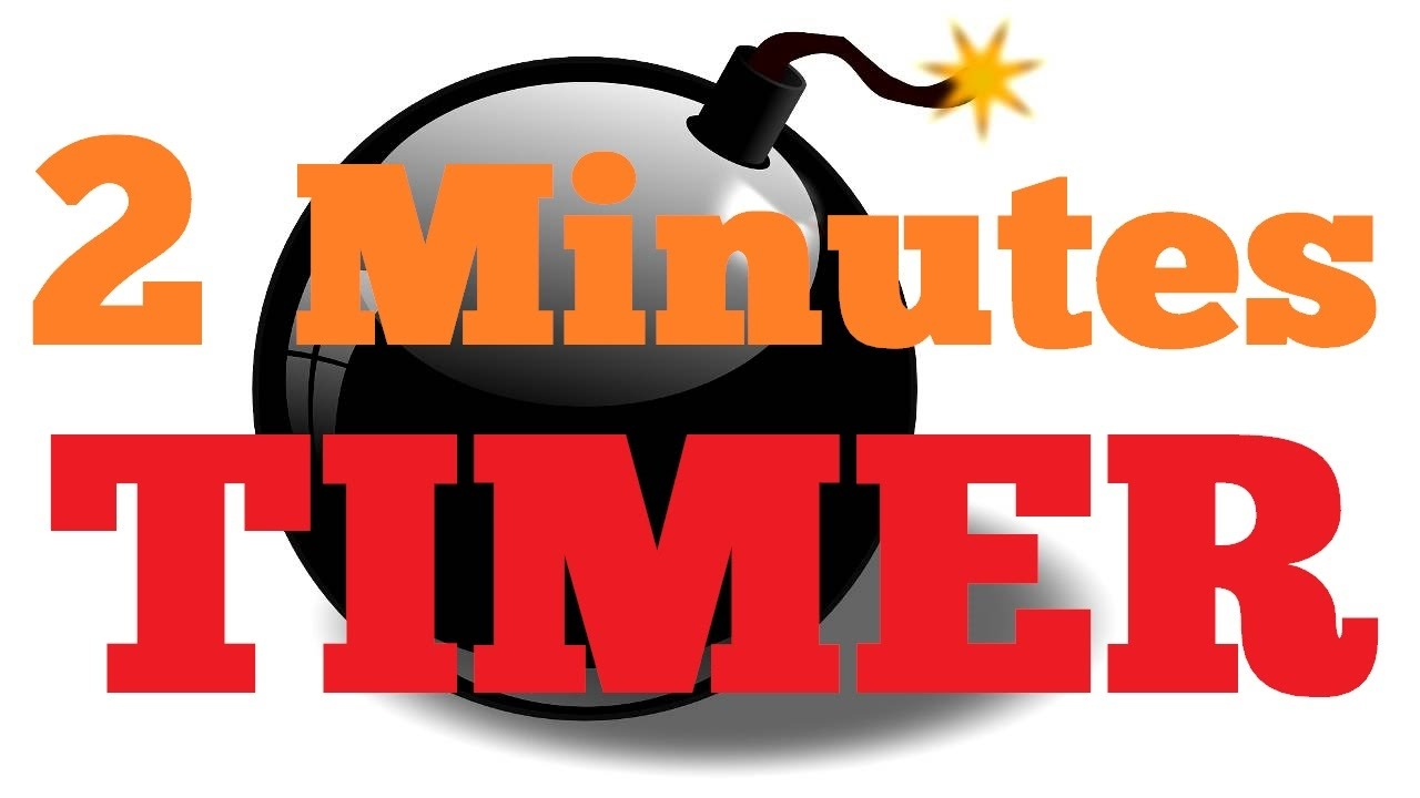 2 minute countdown timer alarm clock youtube