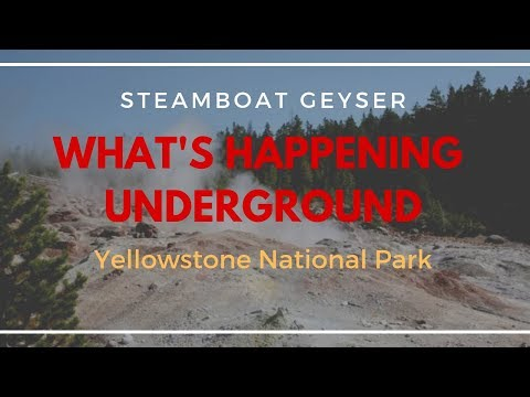 Steamboat Geyser - Map of Underground Thermal System - Yellowstone (2019)