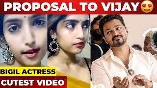 Romantic Proposal To Thalapathy Vijay | Bigil | Reba Monica John