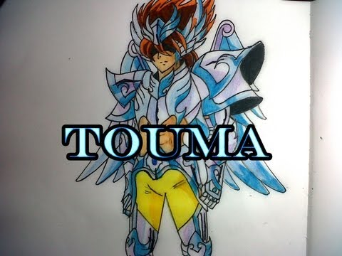 Dibujando a TOUMA DE(Saint Seiya Next Dimension)
