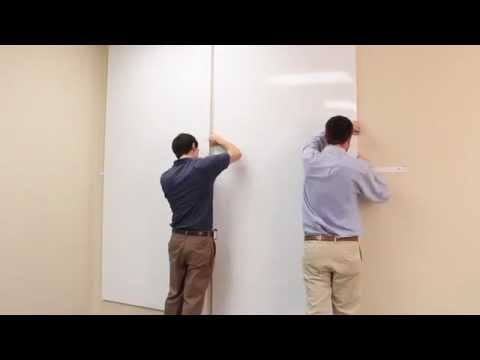 How To Install Removable Whiteboard Panels Youtube