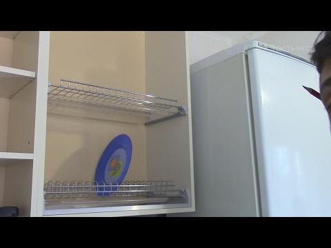 0 - Установка сушарки для посуду в шафу