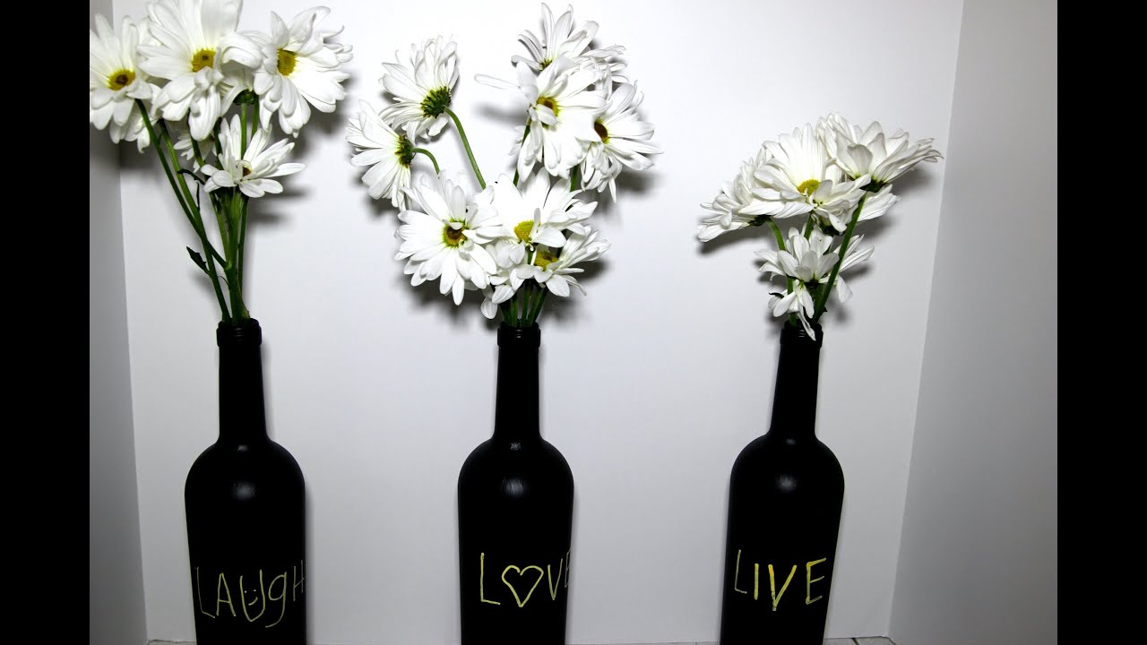 Diy chalk wine bottle succulent plant ideas youtube floridaeventfo Gallery