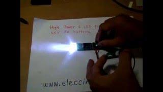 high power led flashlight circuit 1 5v aa battery