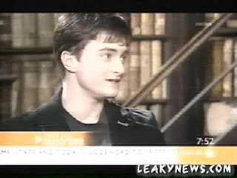 Daniel Radcliffe on Sunrise & Extra on set