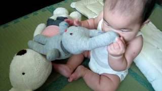 990707 有鈴噹的灰色兔子襪娃娃 thumbnail