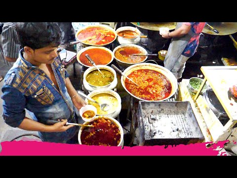 Non-Veg INDIAN Street Food HEAVEN in Bhatiyar Gali | Ahmedabad, India
