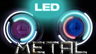 Metallic LED Light Up Push Start Fidget Spinner - Best of all time
