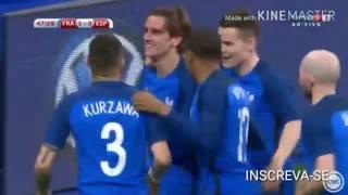 França 0 x 2 Espanha/Melhores Momento/Amistoso internacional 2017