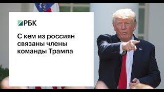 С кем из россиян связаны члены команды Трампа