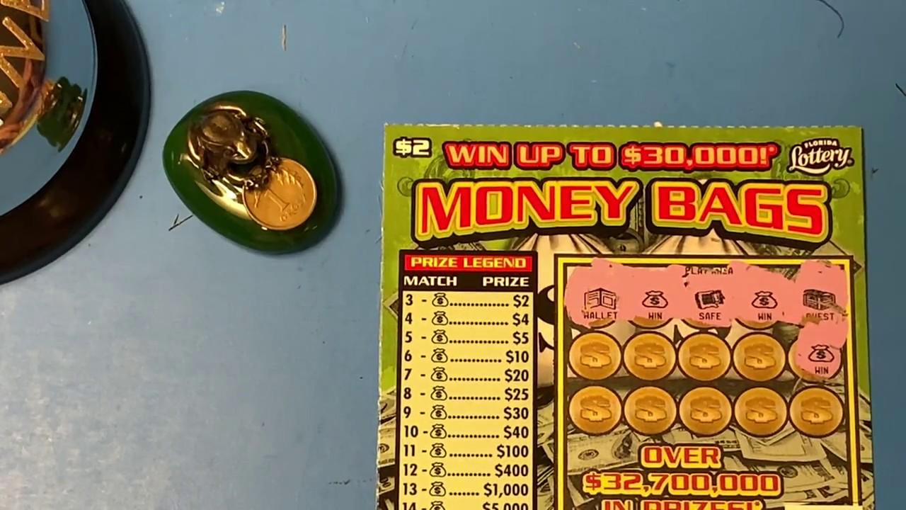 Florida Lottery Scratch Offs - $2 Money Bag Tickets