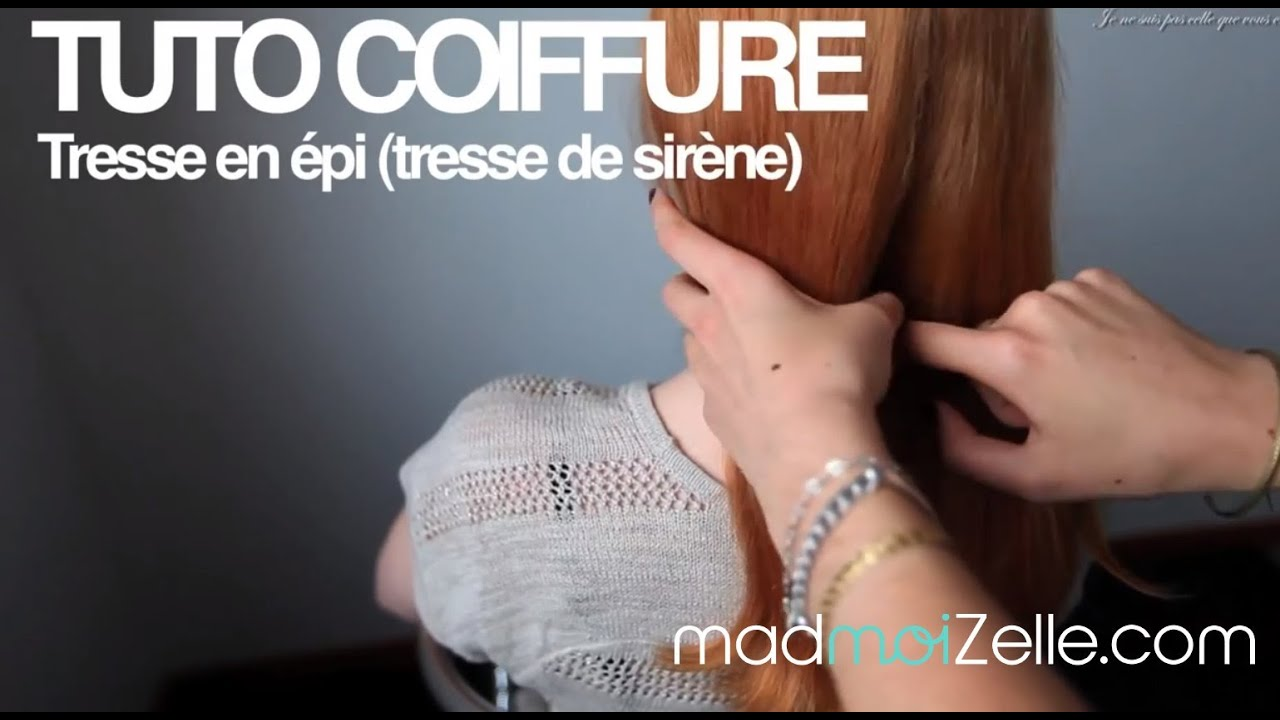 tuto coiffure tresse en pi tresse sir ne youtube. Black Bedroom Furniture Sets. Home Design Ideas