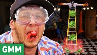 Liquid Nitrogen Watermelon Taste Test ft. ThreadBanger