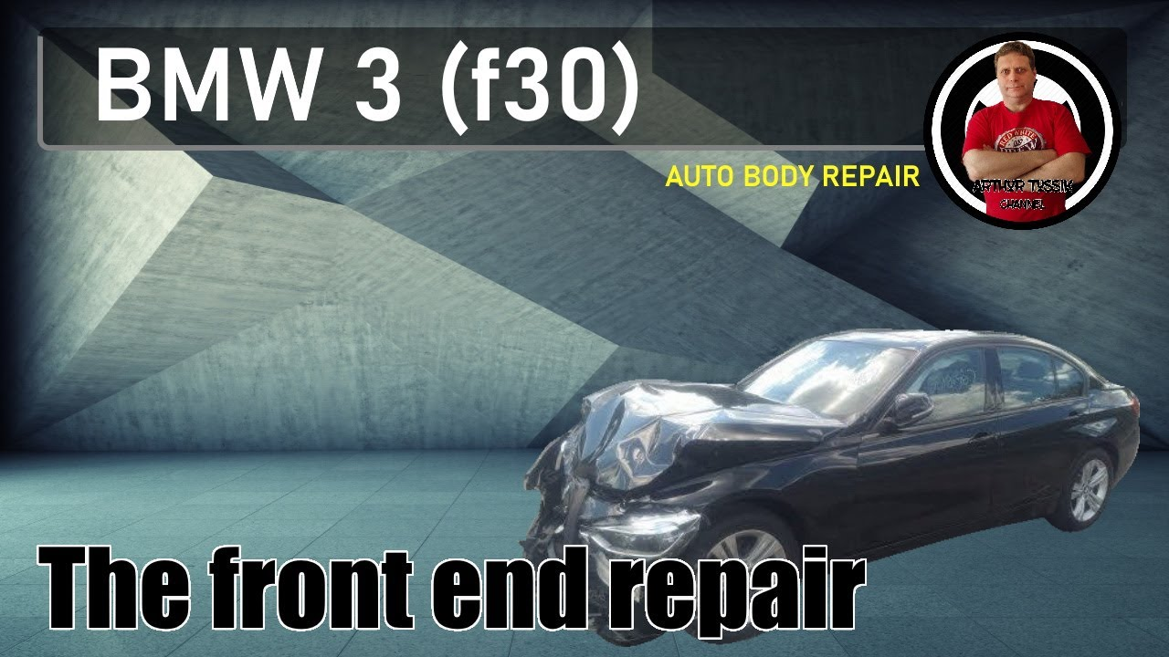 BMW 3 (f30) Front end repair. Ремонт переда.