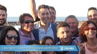 Calvo habilitó la defensa de la costanera de Miramar